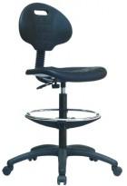 Pracovná (dielenská) PUR stolička TULIP RING