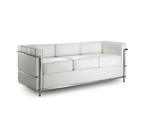 Křeslo Bauhaus bílé - 3 místa