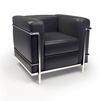 Kreslo Le Corbusier LC2 čierna