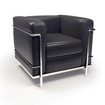 Fotogalerie: Kreslo Le Corbusier LC2 čierna