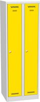 Dvojdielna zváraná kovová šatňová skriňa
