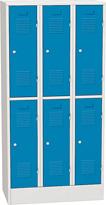 Šatníková skriňa kovová  s krátkymi dverami - 6 box