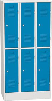 Fotogalerie: Šatníková skriňa kovová  s krátkymi dverami - 6 box