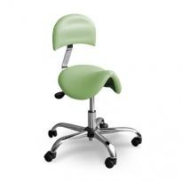 Pedikérská, lékařská, kosmetická, dentistická a laboratorní sedlová židle DERBY s opěradlem