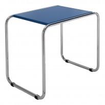 Chromovaný noční stolek k funkcionalistické posteli